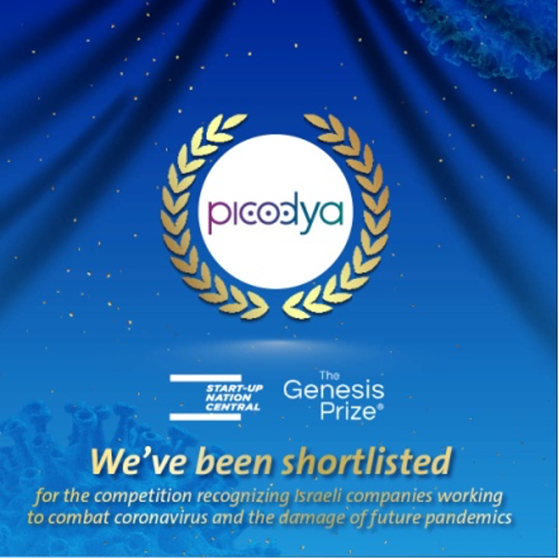 Picodya shortlisted for the prestigious <br>Genesis Prize