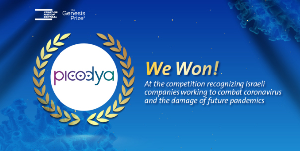 Picodya is a winner of The Genesis Prize and Start-Up Nation Central's joint competition